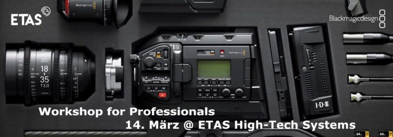 Blackmagic URSA Mini Workshop am 14. März 2018