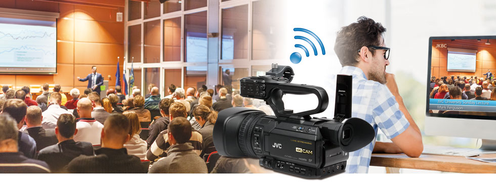 You want smartphone-controlled live graphics? JVC makes it possible!