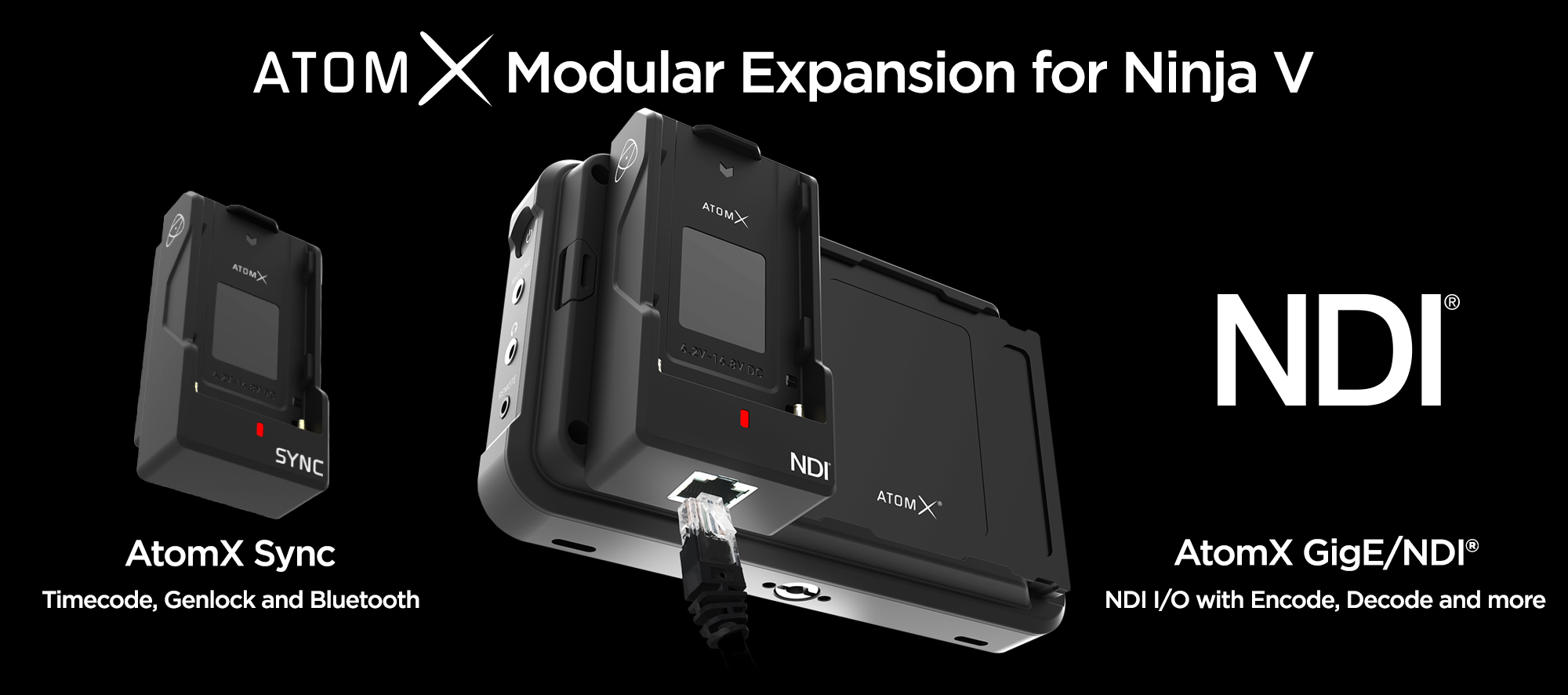 ATOMOS: AtomX Ethernet-Modul for Ninja V